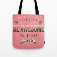 Be Awesome. Repeat. (Sal… Tote Bag