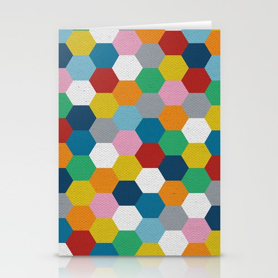 Honeycomb 3 Stationery Card