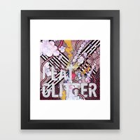 I Eat Glitter Framed Art Print
