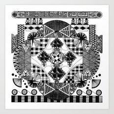 symmetry and a little bit of assymetry Art Print