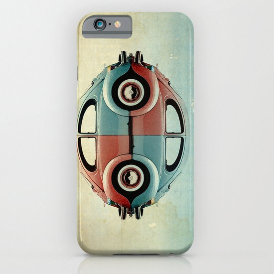 checkered 4 speed - VW beetle  iPhone & iPod Case