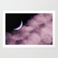 Crescent Moon On A Fluff… Art Print