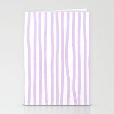 Lavender Stripes Stationery Cards