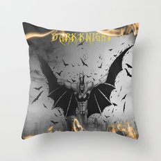 D A R K K N I G H T Throw Pillow