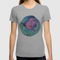 Pretty Oceanic Ombre Face Womens Fitted Tee Athletic Grey SMALL
