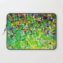 HOLIDAY CHEER - Bold Christmas Festive Green Red Yellow Sparkle Stars Glitter Bling Abstract Art Laptop Sleeve
