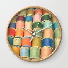 Sew a Rainbow Wall Clock