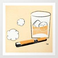 Cigar And Booze Art Print