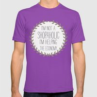 I'm Not A Shopaholic. Mens Fitted Tee Ultraviolet SMALL