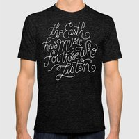 Music Mens Fitted Tee Tri-Black SMALL