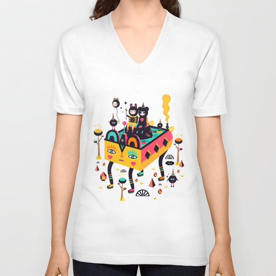 Hanging around! V-neck T-shirt