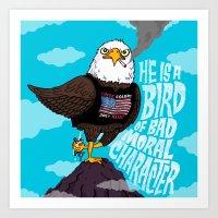 He Is A Bird Of Mad Mora… Art Print