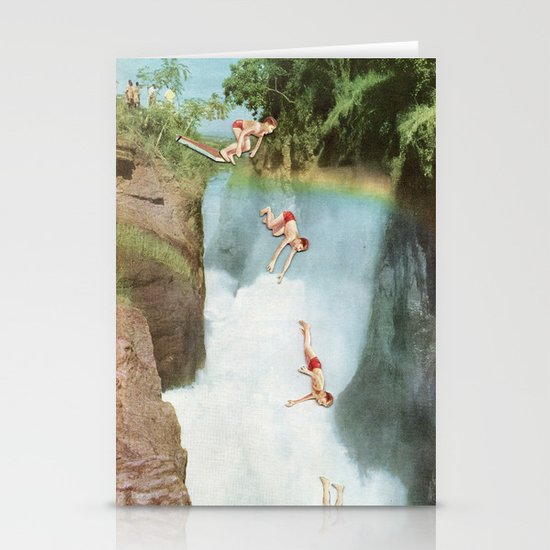 Diving Board Stationery Card