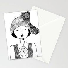 Flapper Girl Stationery Cards