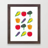 Veggies! Framed Art Print
