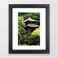 Garden Tempel Framed Art Print