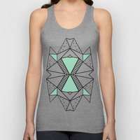 Ab Lines and Spots Mint Unisex Tank Top