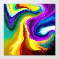 Molten  Canvas Print