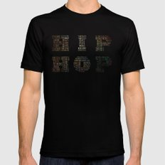 HIP HOP SMALL Mens Fitted Tee Black