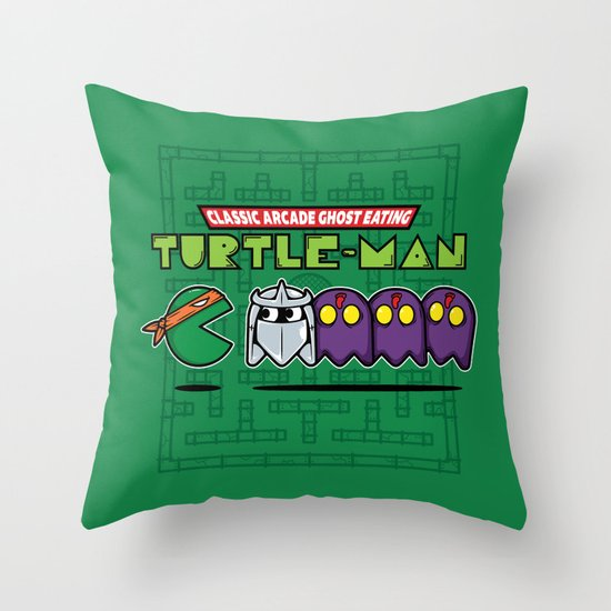 Hero in a Pac-Shell (Mikey) Throw Pillow