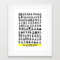 Top 100 Living Artists Framed Art Print