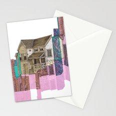 glitch house illustration Stationery Cards