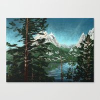 Tetons Across Jenny Lake Canvas Print