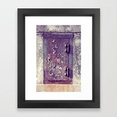 little door Framed Art Print