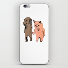 Cat and Dog iPhone & iPod Skin