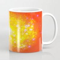 Shimmering Stars Orange Mug