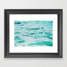 teal waves Framed Art Print