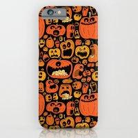 iPhone & iPod Case featuring Pumpkin Pattern by Chris Piascik