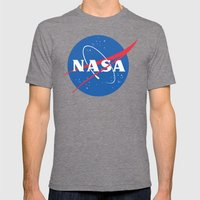 nasa Mens Fitted Tee Tri-Grey SMALL