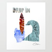Drop In Art Print