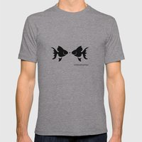 Fish 2 Mens Fitted Tee Athletic Grey SMALL