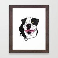 Bubba, the American Bulldog Framed Art Print