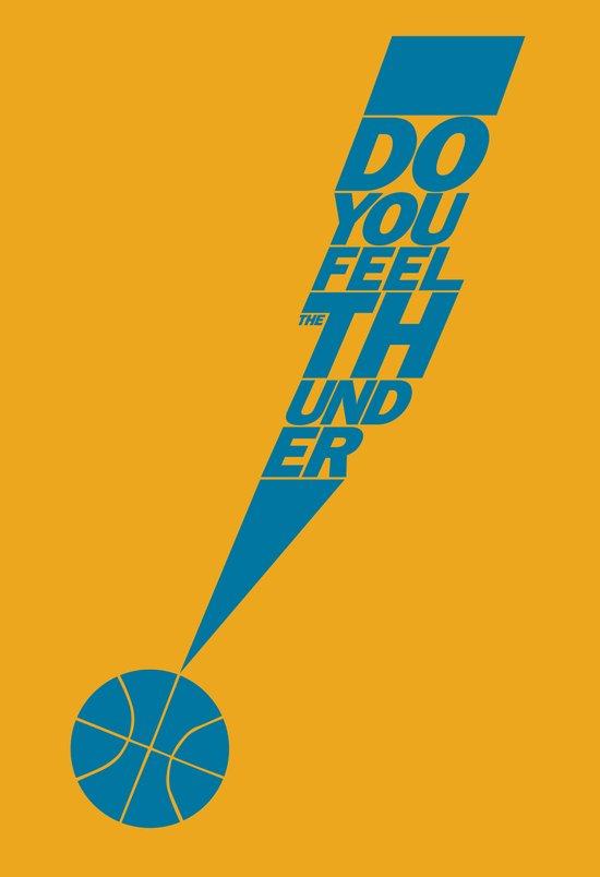 Do You Feel the Thunder? (Orange) Art Print