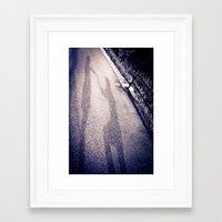 Shadow Proposal Framed Art Print