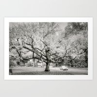 lord of the rings Art Prints featuring  Lord of the rings tree by Ammar ZABOUN