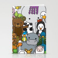 Zoe Animals Stationery Cards