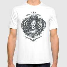 Long Live the Queen SMALL White Mens Fitted Tee