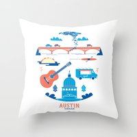 Love Letter To Austin, T… Throw Pillow