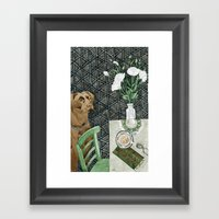 Geometry Labrador Framed Art Print