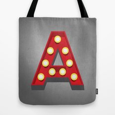 A - Theatre Marquee Letter Tote Bag