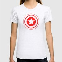 Capitaine Amérique Womens Fitted Tee Ash Grey SMALL