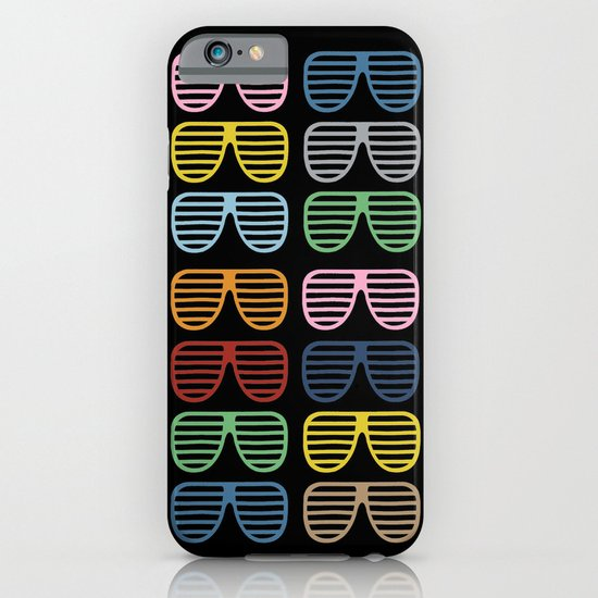 Rainbow Shutter Shades at Night iPhone & iPod Case