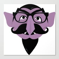 Hipster Count Canvas Print