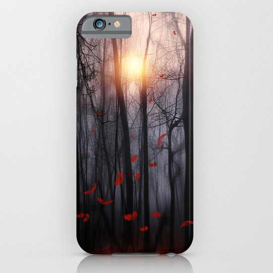 Red feather dance  -  by Viviana Gonzalez iPhone & iPod Case
