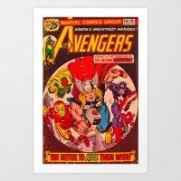 Superhero Cover Art Print