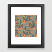 pina flower Framed Art Print